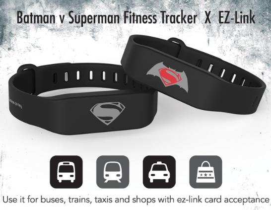 握奇助力新加坡EZ-Link发布Batman v Superman Fitness Tracker 手环产品