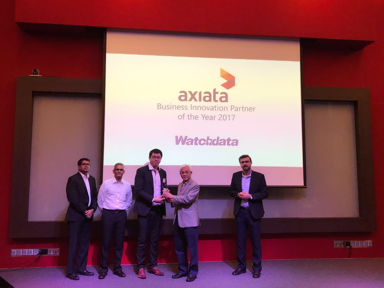 """握奇荣获马来西亚Axiata集团""""2017年度最佳业务创新合作伙伴""""奖"""